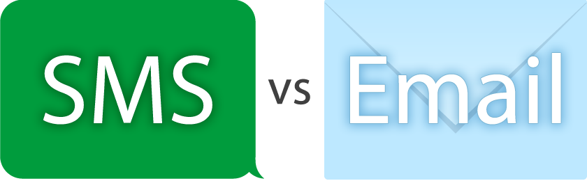 SMS vs Email diagram