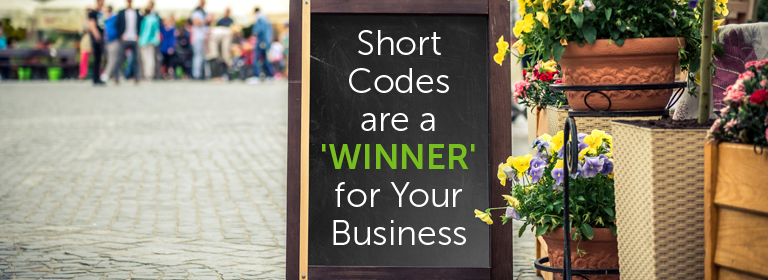 SMS short codes for competitions