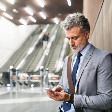 On the go with mobile banking - Textlocal