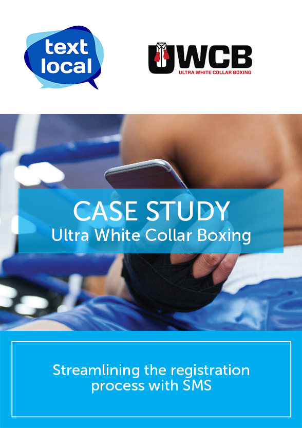 Ultra White Collar Boxing streamline the registration process with SMS